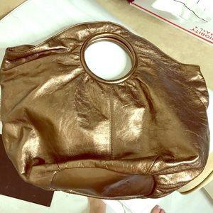 Hobo international bronze leather handbag NWT